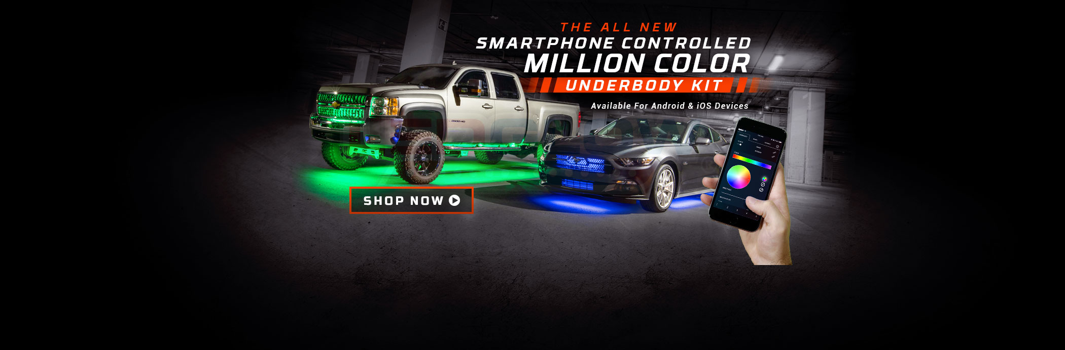 Smartphone Controlled Underbody Light Kits