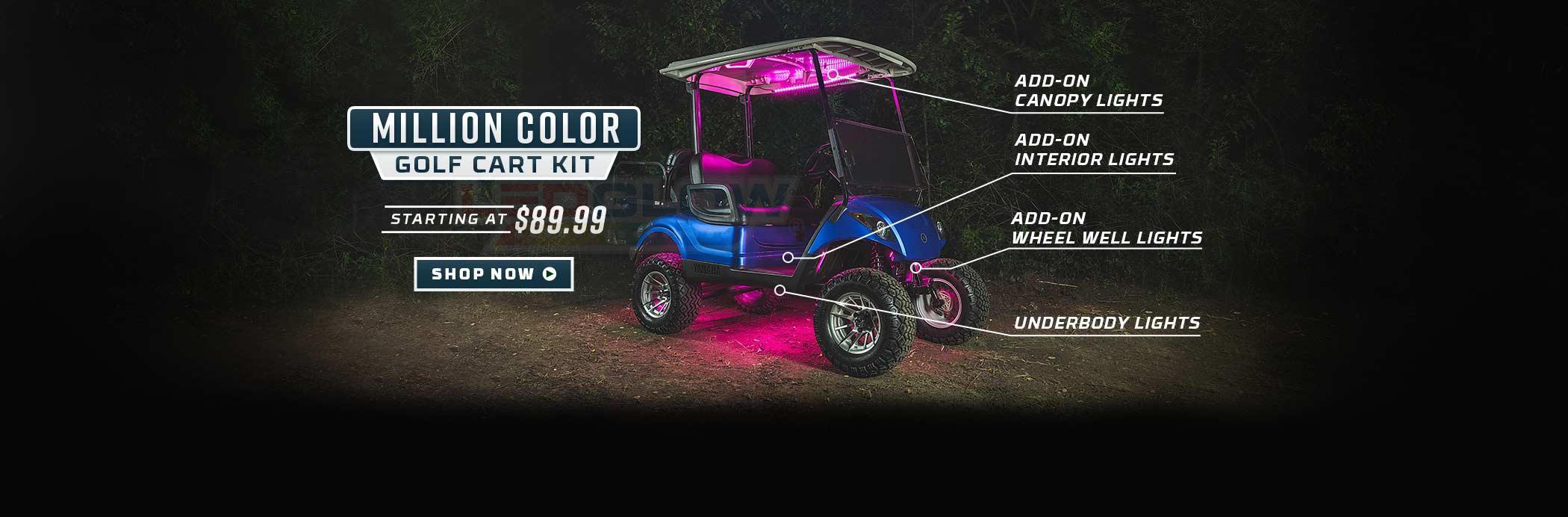 Million Color Golf Cart Underglow Lights