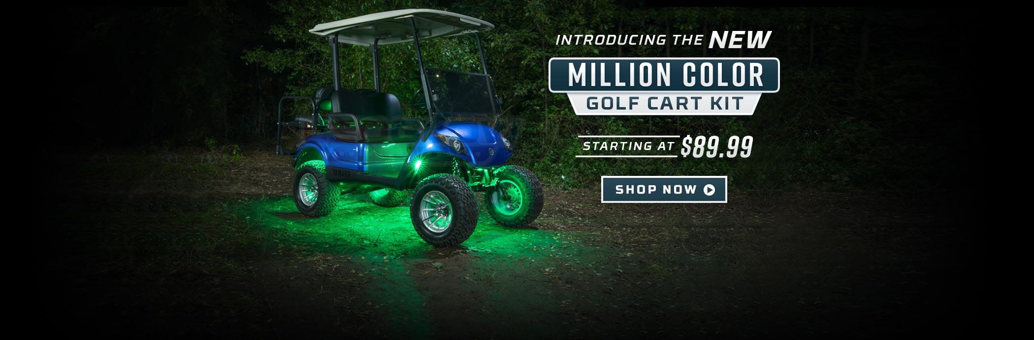 Million Color Golf Cart Underbody Light Kit Slider