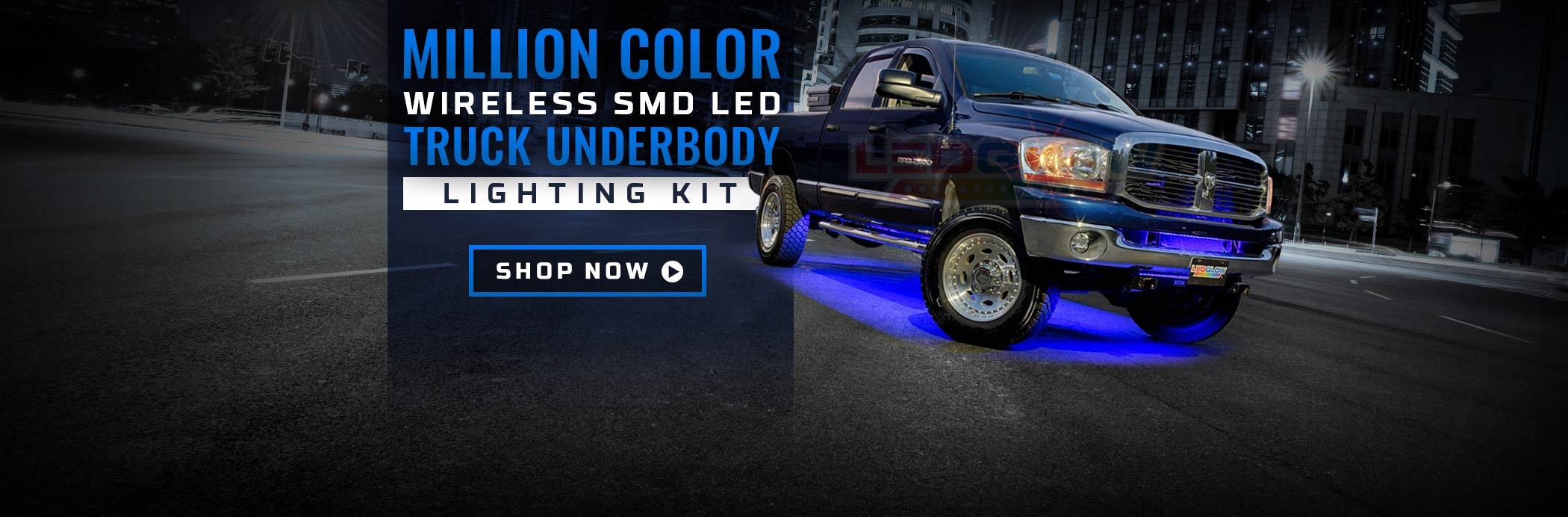 Million Color Wireless SMD Truck Underbody Lighting Kit