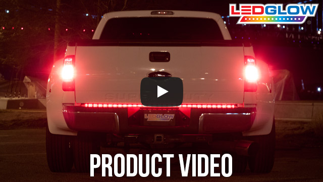 Ledglow 49 inch compact truck red led tailgate light bar truck tailgate led light bar kit contents smd led videos aloadofball Gallery