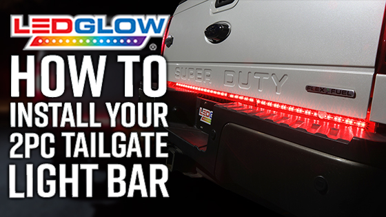 Ledglow 60 tailgate led light bar with white reverse lights for 2pc 60 full size truck tailgate light bar installation video cheapraybanclubmaster Gallery
