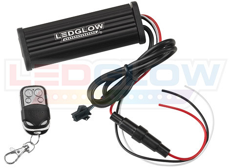 Replacement Classic Single Color Flexible Motorcycle Control Box & Wireless Remote