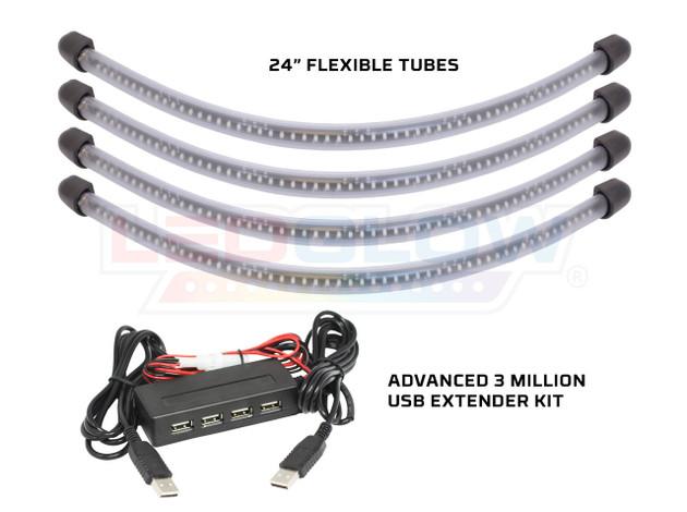 Advanced 3 Million USB Wheel Well Lighting Tubes & Advanced 3 Million USB Extender Kit