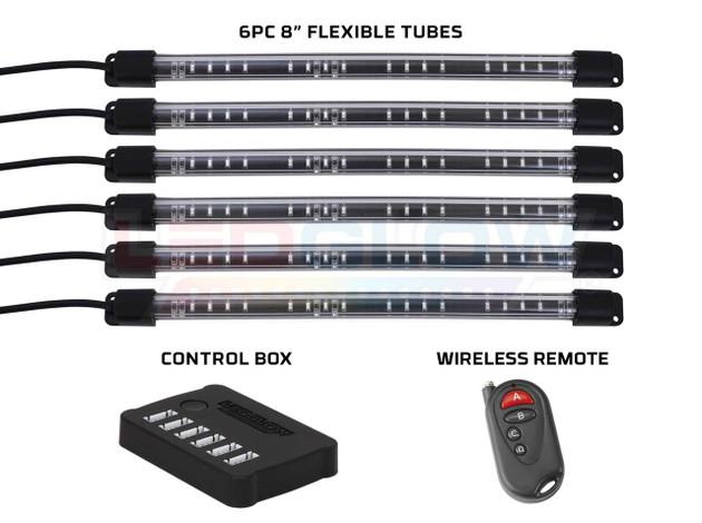 """8"""" Flexible Million Color Interior Tubes, Control Box & Wireless Remote"""
