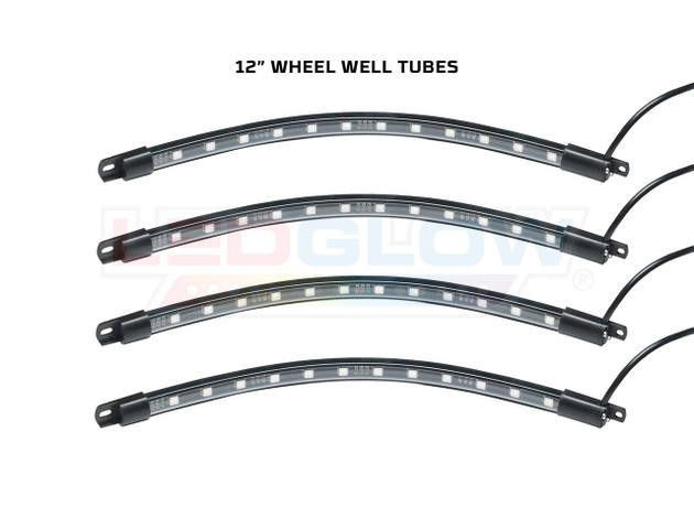 "Add-On 12"" Flexible Wheel Well Tubes for Million Color Golf Cart Underbody Kit"