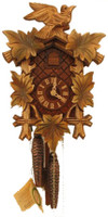 Rombach and Haas 1 Day Black Forest Bird and Leaf Cuckoo Clock 1203