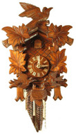 Rombach and Haas 1 Day Black Forest Feeding Birds Cuckoo Clock 1205