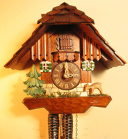 Rombach and Haas 1 Day Black Forest Chimneysweep Cuckoo Clock 1216