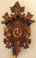 Rombach and Haas 1 Day Black Forest Grape Leaves Cuckoo Clock 1250