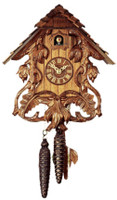 Rombach and Haas 1 Day Black Forest Sword Lillies Cuckoo Clock 1262