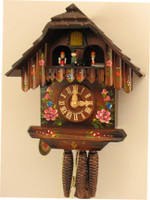 Hubert Herr 1 Day Black Forest Musical Chalet with Dancers Cuckoo Clock 1313