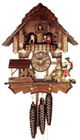 Rombach and Haas 1 Day Happy Wanderer Musical Chalet Cuckoo Clock 1314