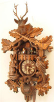 Rombach and Haas 1 Day German Black Forest Musical Hunting Cuckoo Clock 1330