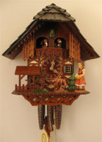 Rombach and Haas 1 Day Feeding Deer Muscial Chalet Cuckoo Clock 1385