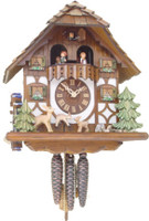 Rombach & Haas 1 Day Black Forest Frolicking Fawns Cuckoo Clock 1386