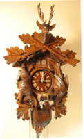Rombach and Haas 1 Day Black Forest Hunting Cuckoo Clock 1420