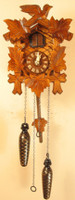 Sternreiter Quartz Black Forest Bird and Leaf Musical Cuckoo Clock 40QM