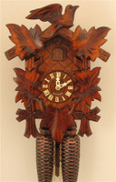 Sternreiter 8 Day Black Forest Bird and Leaf Cuckoo Clock 8200