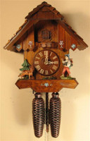 Rombach and Haas 8 Day Black Forest Happy Wanderer Chalet Cuckoo Clock 8205