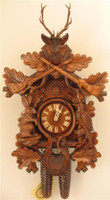 8-Day German Black Forest Hunting Cuckoo Clock 8230