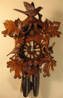 Rombach and Haas 8 Day Black Forest Bird and Leaf Cuckoo Clock 8233