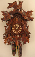 Rombach and Haas 8 Day Black Forest Bird and Leaf Cuckoo Clock 8240