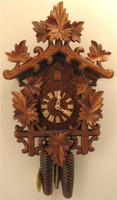 Rombach and Haas 8 Day Black Forest Leaves Cuckoo Clock 8250
