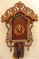 Rombach and Haas 8 Day Black Forest Chalet Bahnhäusle Cuckoo Clock 8259