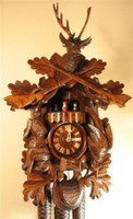 Rombach and Haas 8 Day Black Forest Musical Hunting Cuckoo Clock 8320