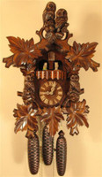Rombach and Haas 8 Day Black Forest Owl Musical Cuckoo Clock 8360