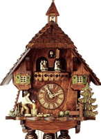 Rombach and Hass 8 Day Black Forest Wood Chopper Chalet Cuckoo Clock 8362