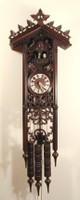 8 Day Black Forest Long Bahnhäusle Cuckoo Clock 8365