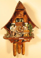 Rombach and Haas 8 Day Slopped Roof Chalet Cuckoo Clock 8367