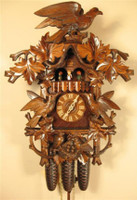 Rombach and Haas 8 Day Black Forest Hawk Top Musical Cuckoo Clock 8388