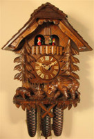 Rombach and Haas 8 Day Black Forest Chalet Musical Cuckoo Clock 8391