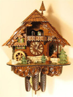 Rombach and Haas 8 Day Black Forest Chalet Musical Cuckoo Clock 8392