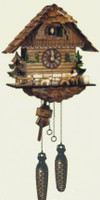 Schneider Quartz German Black Forest Chalet Cuckoo Clock Q 1104/9
