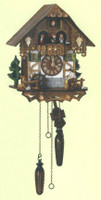 Schneider Quartz German Black Forest Tudor Cuckoo Clock Q 6563/9