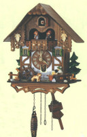 Schneider Quartz German Black Forest Chalet Musical Cuckoo Clock Q 6564/9