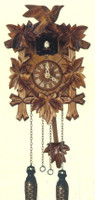 Schneider Quartz German Black Forest Bird and Leaves Cuckoo Clock Q 70/9