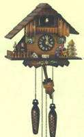 Schneider Quartz German Black Forest Chalet Musical Cuckoo Clock Q 74/10