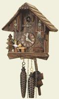 Schneider 1 Day Wooden Chalet Beerdrinker Cuckoo Clock 1103/10