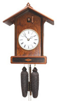 Romba and Haas 8-Day Craftsman Bahnhäusle Cuckoo Clock 8256