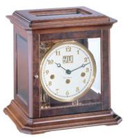22840 030340 A Boston Mechanical Walnut  Mantel Clock by Hermle