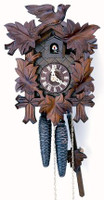 Schneider 1 Day Bird and Leaf Cuckoo Clock - 71/9