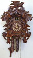 Schneider 1 Day Bird and Leaf Cuckoo Clock - 872/9