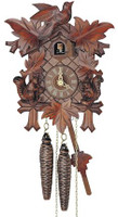 Schneider 1 Day Bird Leaf and Squirrel Cuckoo Clock- 89/11