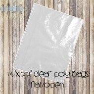 "14"" x 22"" Clear Poly Bags"