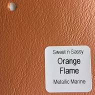 Sheet - Orange Flame Metallic